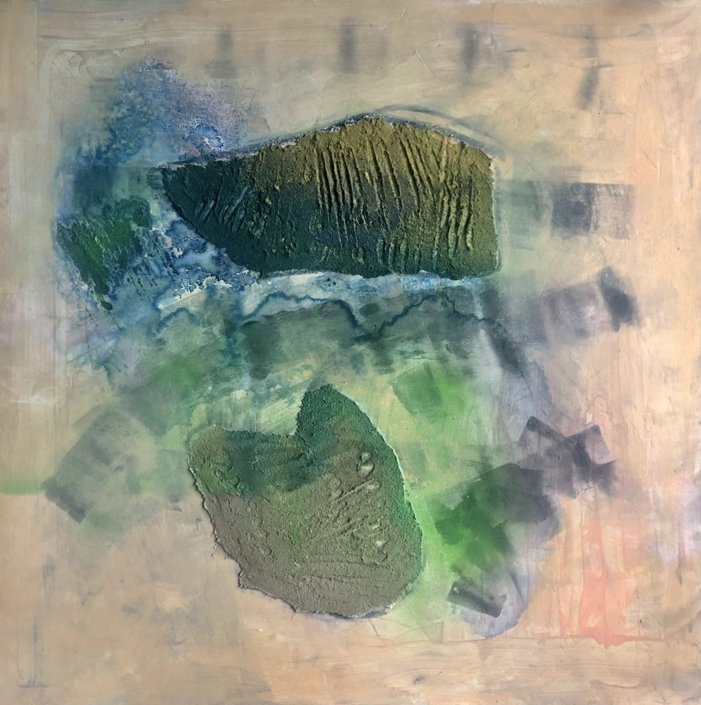 Acrylique, encres sur bois 60 x 60 cm