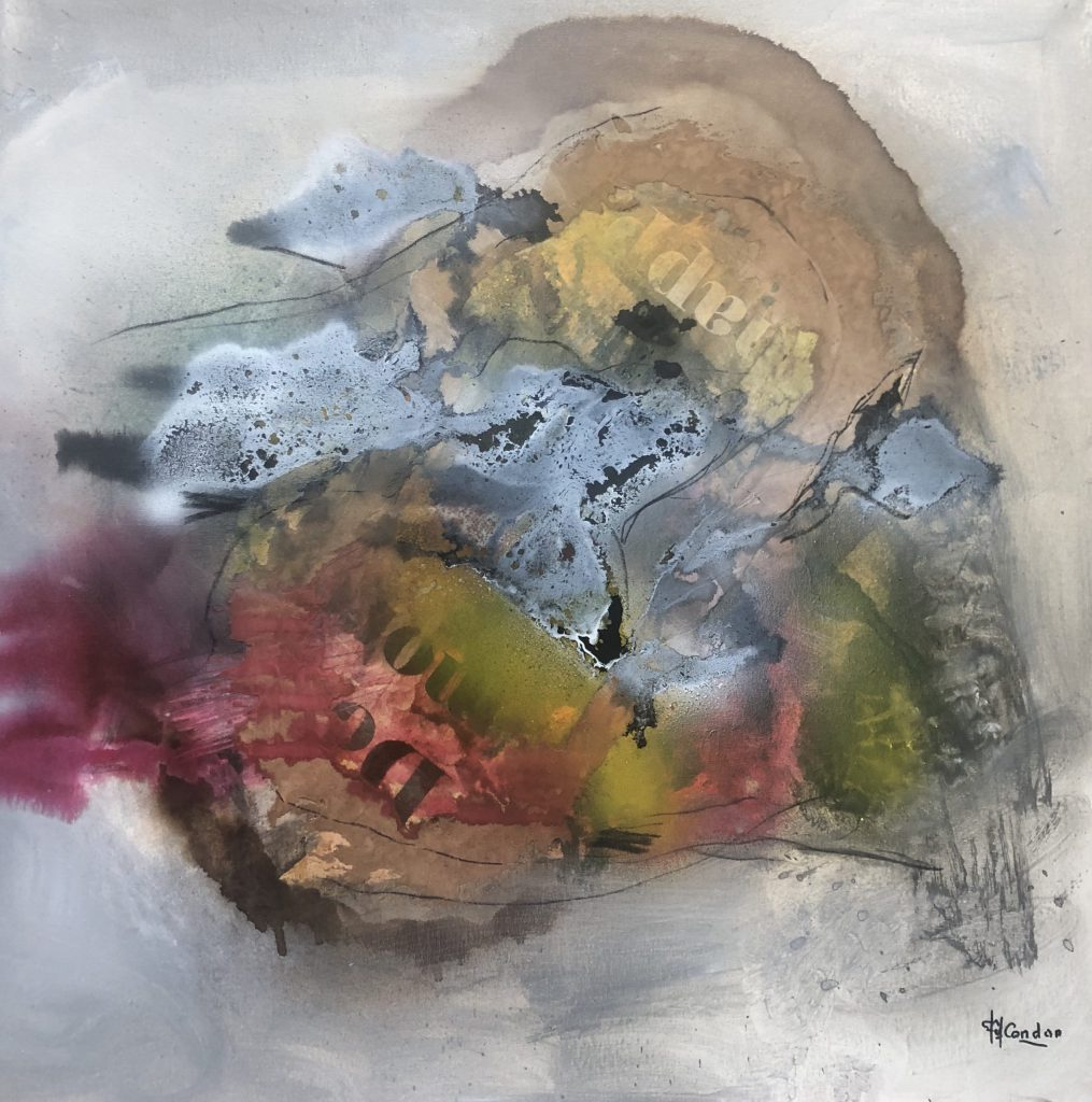 techniques mixtes sur toile 70 x 70 cm