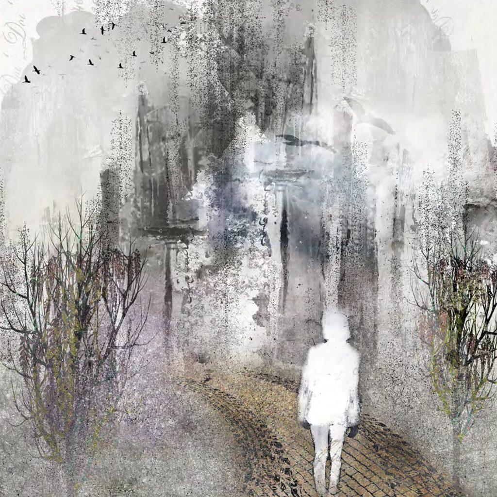Composition photoshop, impression numérique sur papier 31 x 31 cm
