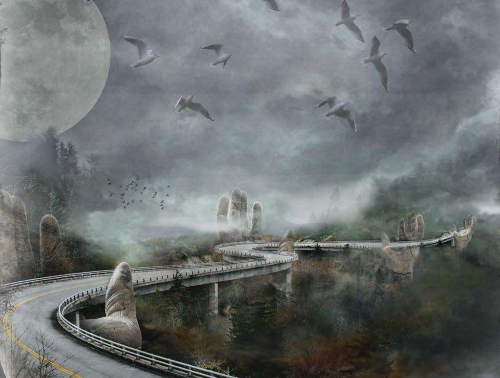 Composition photoshop, impression numérique sur papier 41 x 31 cm